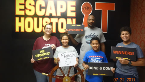 Fantastic 5! played Escape the Titanic on Jul, 22, 2017